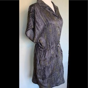 Rag and bone Tie Waist Silk Dress